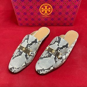 RARE Tory Burch Leather Python-Print Mule [NEW]